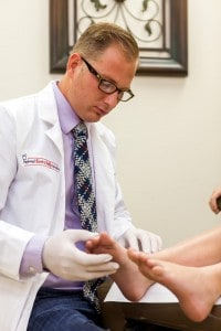 Dr Mikkel Jarman - Podiatrist Phoenix Gilbert AZ - foot exam - Preferred Foot and Ankle